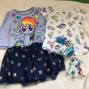 My Little Pony MLP lot bundle 3T dress socks 7-10